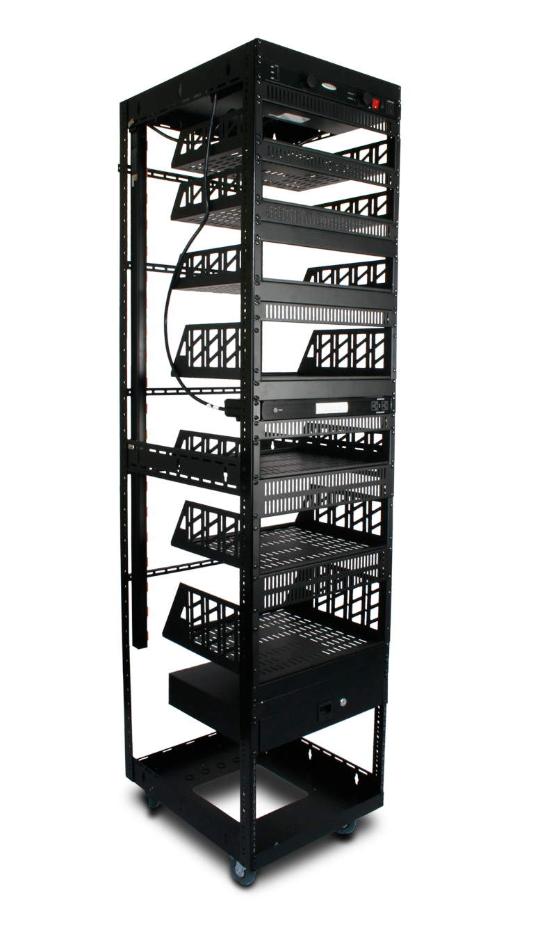 Custom Home Theater Rack Front View